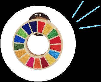 木製SDGsピンバッジ